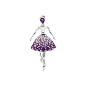 Ametista Amethyst Pendant in Sterling Silver 2.24cts