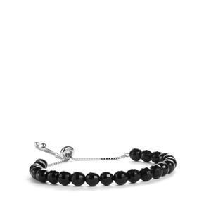 29ct Black Onyx Sterling Silver Slider Bracelet