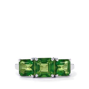 Fern Green Quartz Ring in Sterling Silver 3.80cts