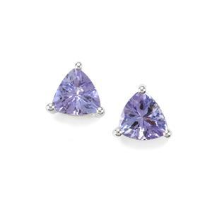 0.85ct Tanzanite Sterling Silver Earrings