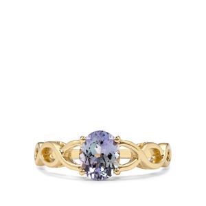 1.21ct Bi Colour Tanzanite 9K Gold Ring