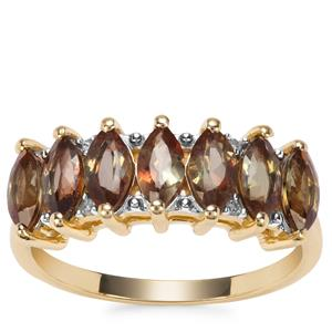 Sopa Andalusite Ring with Diamond in 9K Gold 1.59cts