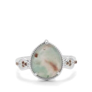 Aquaprase™ Ring with Champagne Diamond in Sterling Silver 3.65cts