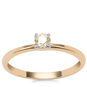 Natural Yellow Diamond Ring in 18K Gold 0.20ct