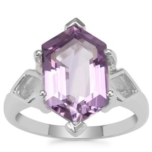Rose De France Amethyst Ring in Sterling Silver 5.70cts