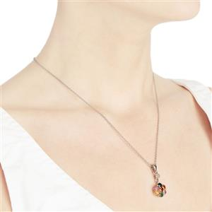 Multi-Colour Gemstone Sterling Silver Pendant Necklace ATGW 2.49cts (F)