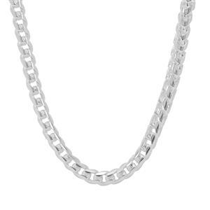 """24"""" Sterling Silver Tempo Diamond Cut Round Franco Slider Chain 30.71g"""