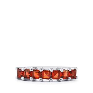 1.22ct Mozambique Garnet Sterling Silver Ring