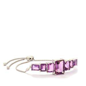 Ametista Amethyst Slider Bracelet in Sterling Silver 17.86cts