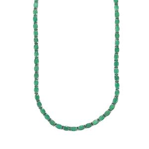 Carnaiba Brazilian Emerald Necklace in Sterling Silver 29.90cts