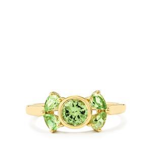 1.28ct Merelani Mint Garnet 9K Gold Ring