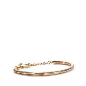 "6.5"" - 8.5"" Gold Tone Sterling Silver Kama Charms Bracelet"