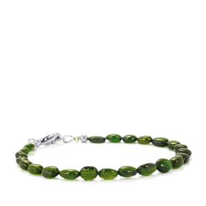 Chrome Diopside Graduated Bead Bracelet in Sterling Silver 30cts