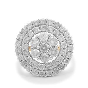 4.9ct Natural Diamond 9K Gold Tomas Rae Ring