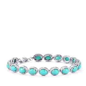 Sleeping Beauty Turquoise Bracelet in Sterling Silver 12.04cts