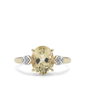Serenite Ring with Diamond in 9K Gold 2.39cts
