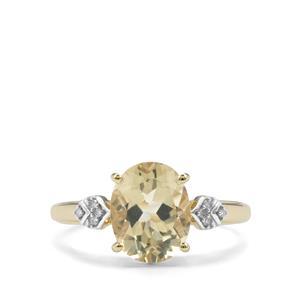 Serenite & Diamond 9K Gold Ring ATGW 2.39cts
