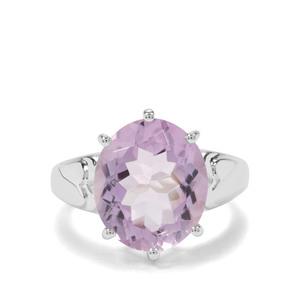 7ct Rose De France Amethyst Sterling Silver Ring