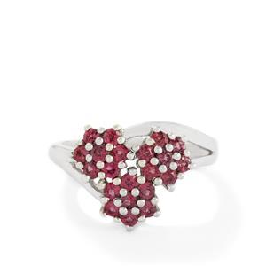 1ct Rhodolite Garnet Sterling Silver Ring