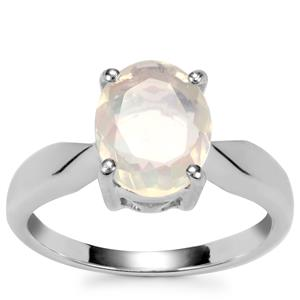 Ethiopian Opal Ring in Sterling Silver 1.40cts