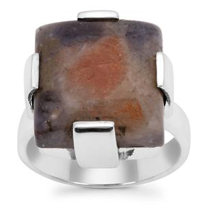 Iolite Sunstone Ring in Sterling Silver 11.50cts