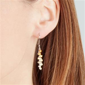 Rio Golden Citrine, Tulelei & White Zircon Sterling Silver Essencia Earrings ATGW 2.09cts