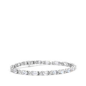 6.75ct Pedra Azul Aquamarine Sterling Silver Bracelet