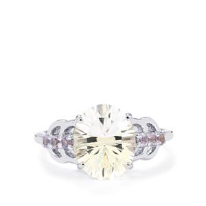 Itinga Petalite & Tanzanite Sterling Silver Ring ATGW 3.13cts