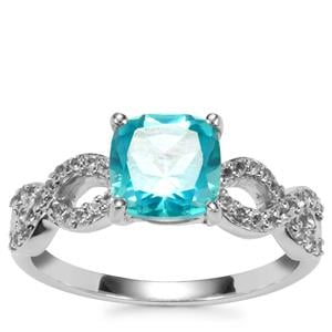 Batalha Topaz Ring with White Topaz in Sterling Silver 2.14cts