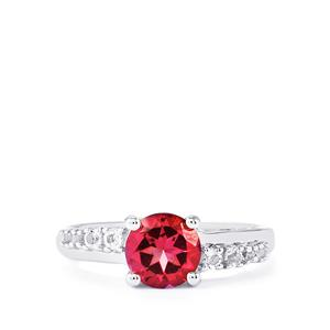 1.78ct Mystic Pink & White Topaz Sterling Silver Ring