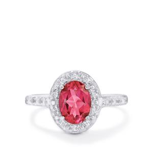 1.59ct Mystic Pink & White Topaz Sterling Silver Ring