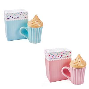 Sweet Treats Cupcake Candle, Strawberry Fragrance with Rose Quartz, Citrine and Turquoise