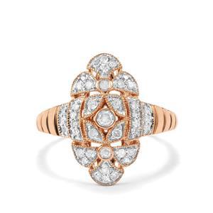 Diamond Ring in 10K Rose Gold 0.39ct