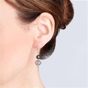 Kaori Cultured Pearl Earrings in Sterling Silver (7 x 6mm)