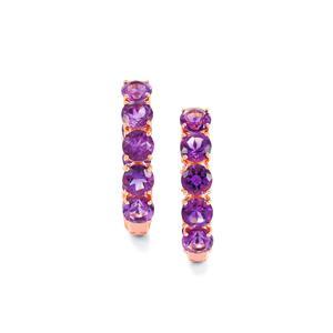 8.57ct Moroccan Amethyst Rose Gold Vermeil Earrings