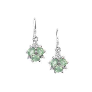 Odisha Kyanite & White Topaz Sterling Silver Earrings ATGW 1.47cts