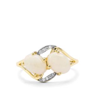 Coober Pedy Opal & Diamond 9K Gold Ring ATGW 1.58cts
