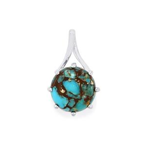 Egyptian Turquoise Pendant  in Sterling Silver 5.14cts