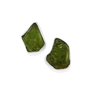 8.37ct Changbai Peridot Sterling Silver Earrings