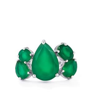 6.67ct Verde Onyx Sterling Silver Ring