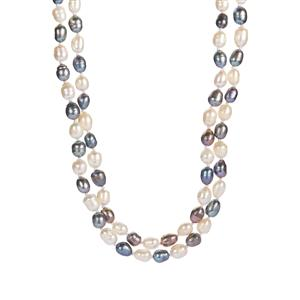 Multi-Colour Kaori Cultured Pearl Necklace  (6mm x 7mm)
