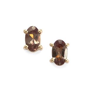 Tsivory Colour Change Garnet Earrings in 9K Gold 0.60ct