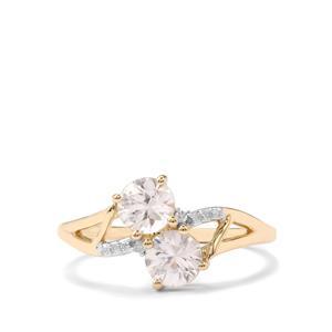 Singida Tanzanian Zircon & Diamond 9K Gold Ring ATGW 1.64cts