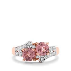 Mahenge Pink Spinel & Diamond 18K Rose Gold Tomas Rae Ring MTGW 1.78cts