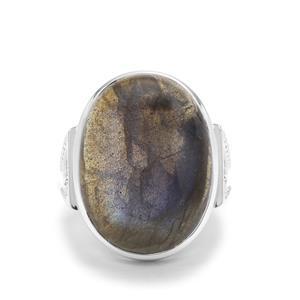 20.41ct Labradorite Sterling Silver Ring