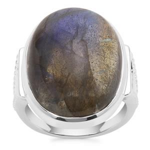 Labradorite Ring in Sterling Silver 20.41cts