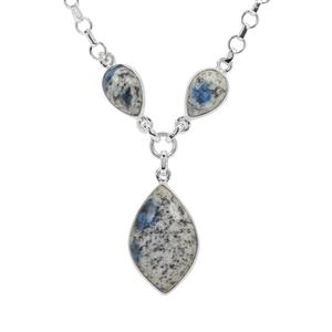 K2 Jasper Necklace in Sterling Silver 22cts