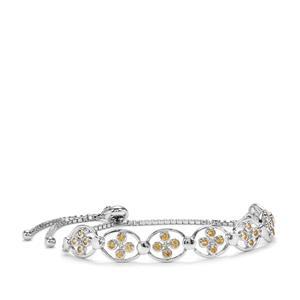 Ambilobe Sphene Slider Bracelet in Sterling Silver 1.10cts