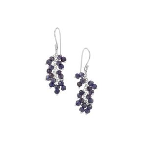 10ct Bengal Iolite Inspired By Colour Sterling Silver Beads Earrings
