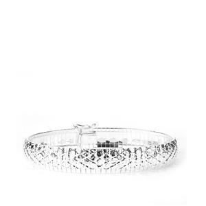"7.5"" Sterling Silver Altro Cleopatra Crocodile Effect Bracelet 14.57g"